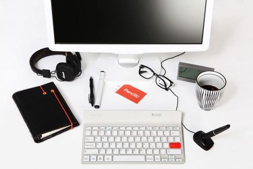 Penclic K2 RF Wireless QWERTZ Tedesco Bianco tastiera