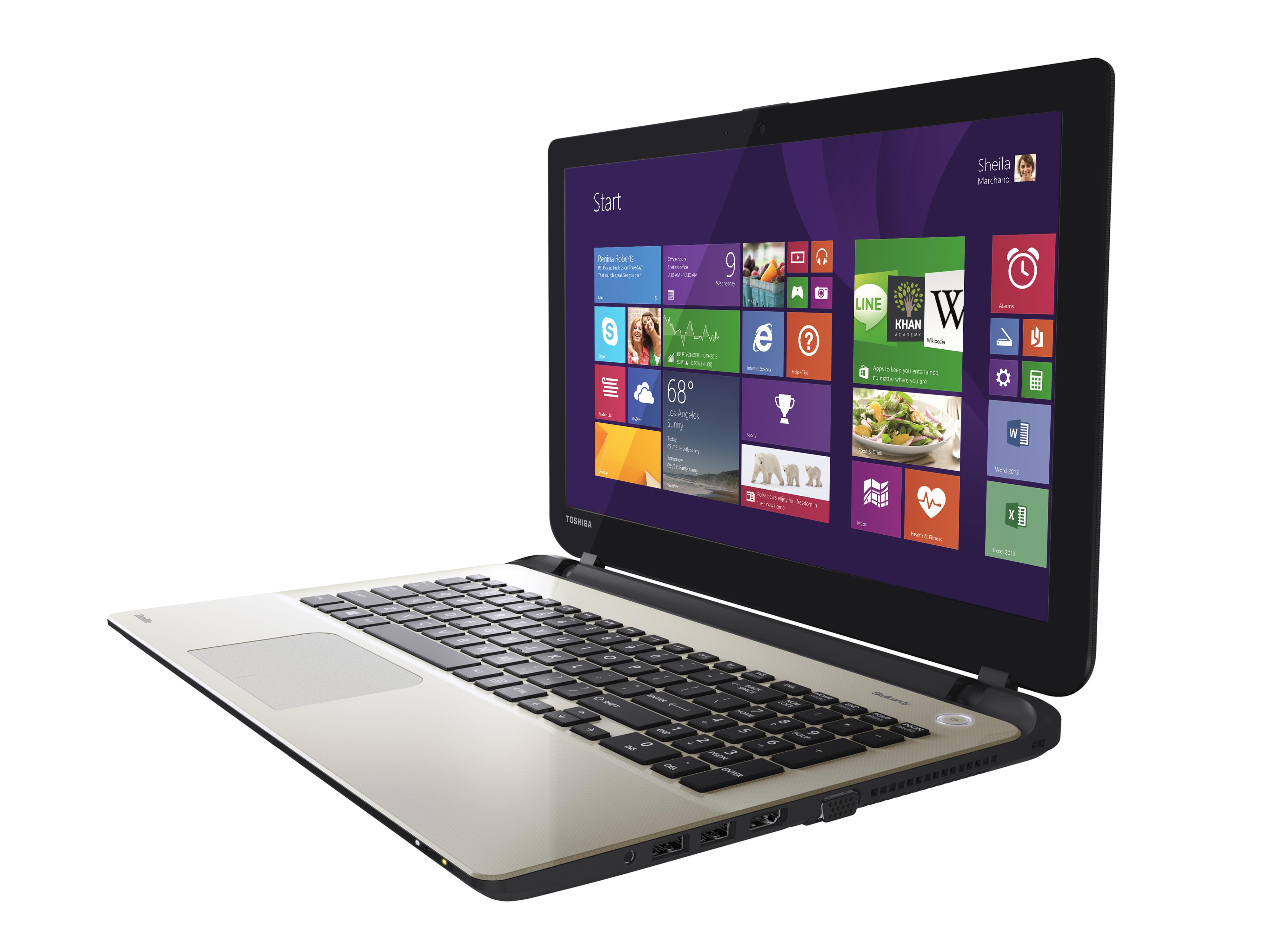 "Toshiba Satellite L50-B-1H1 2GHz i7-4510U 15.6"" 1366 x 768Pixel Argento Computer portatile"