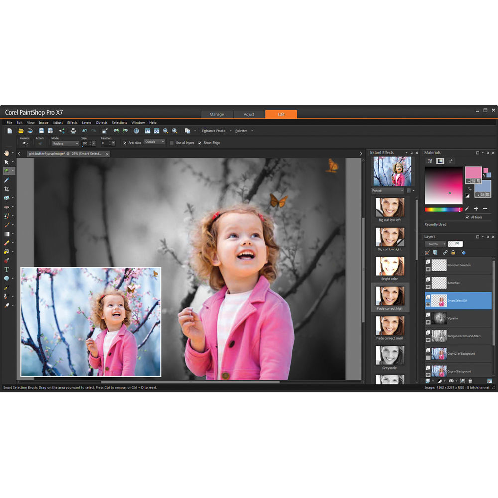 Corel PaintShop Pro X7, Corp 501-2500