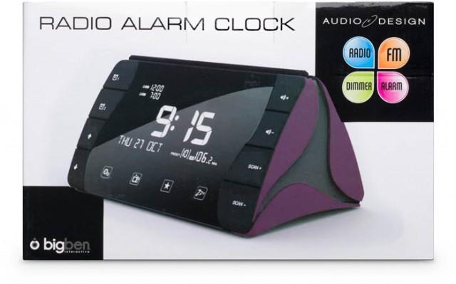 Bigben Interactive AU305562 Orologio Digitale Nero, Lillà radio