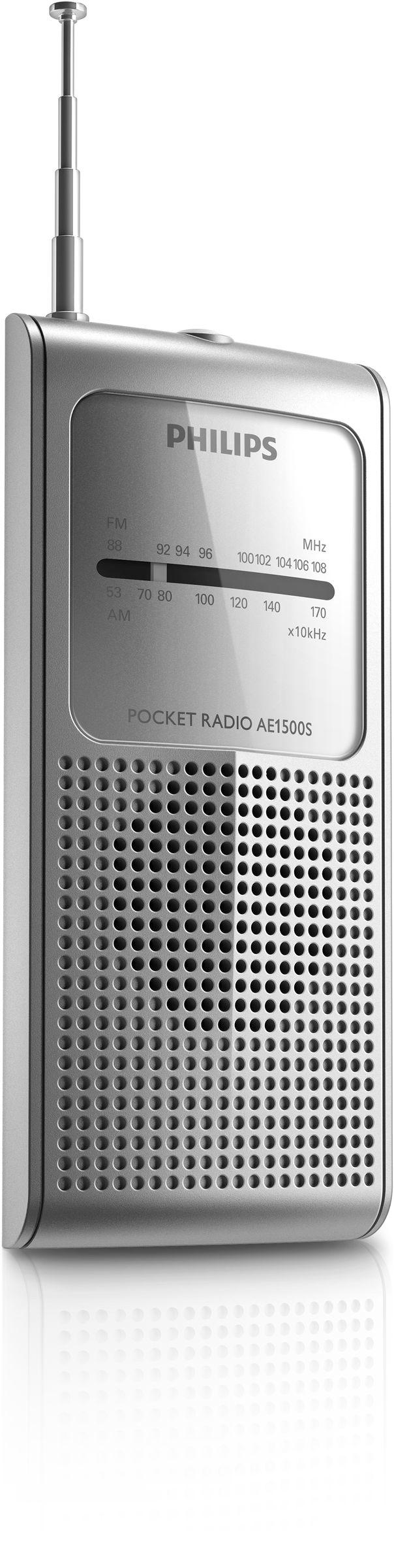 Philips AE1500S/37 Portatile Analogico Argento radio
