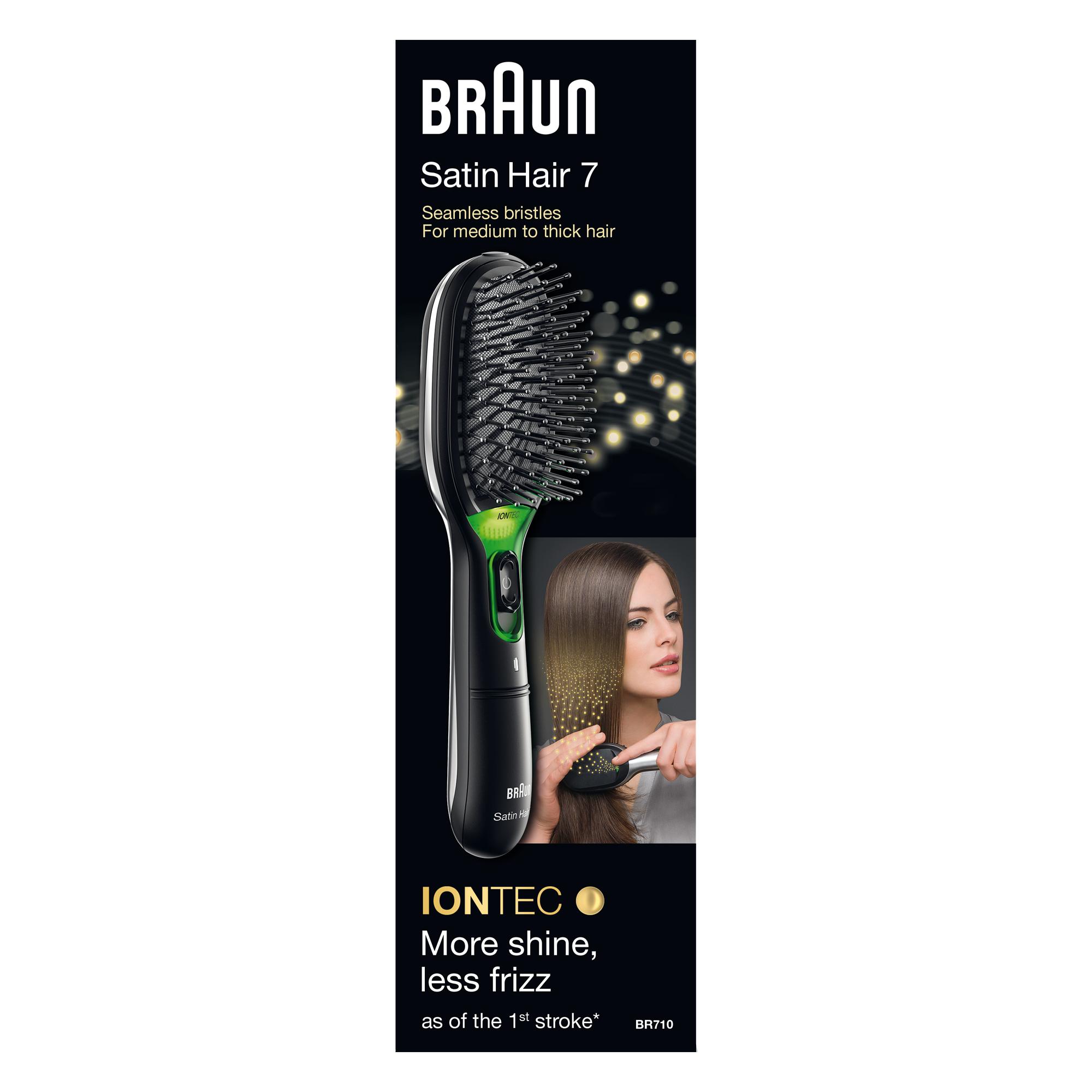 Braun BR710 Adulto Spazzola piatta Nero, Verde 1pezzo(i)
