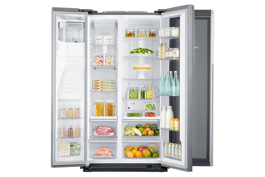 Samsung RH56J6918SL Libera installazione 555L A++ Acciaio inossidabile frigorifero side-by-side
