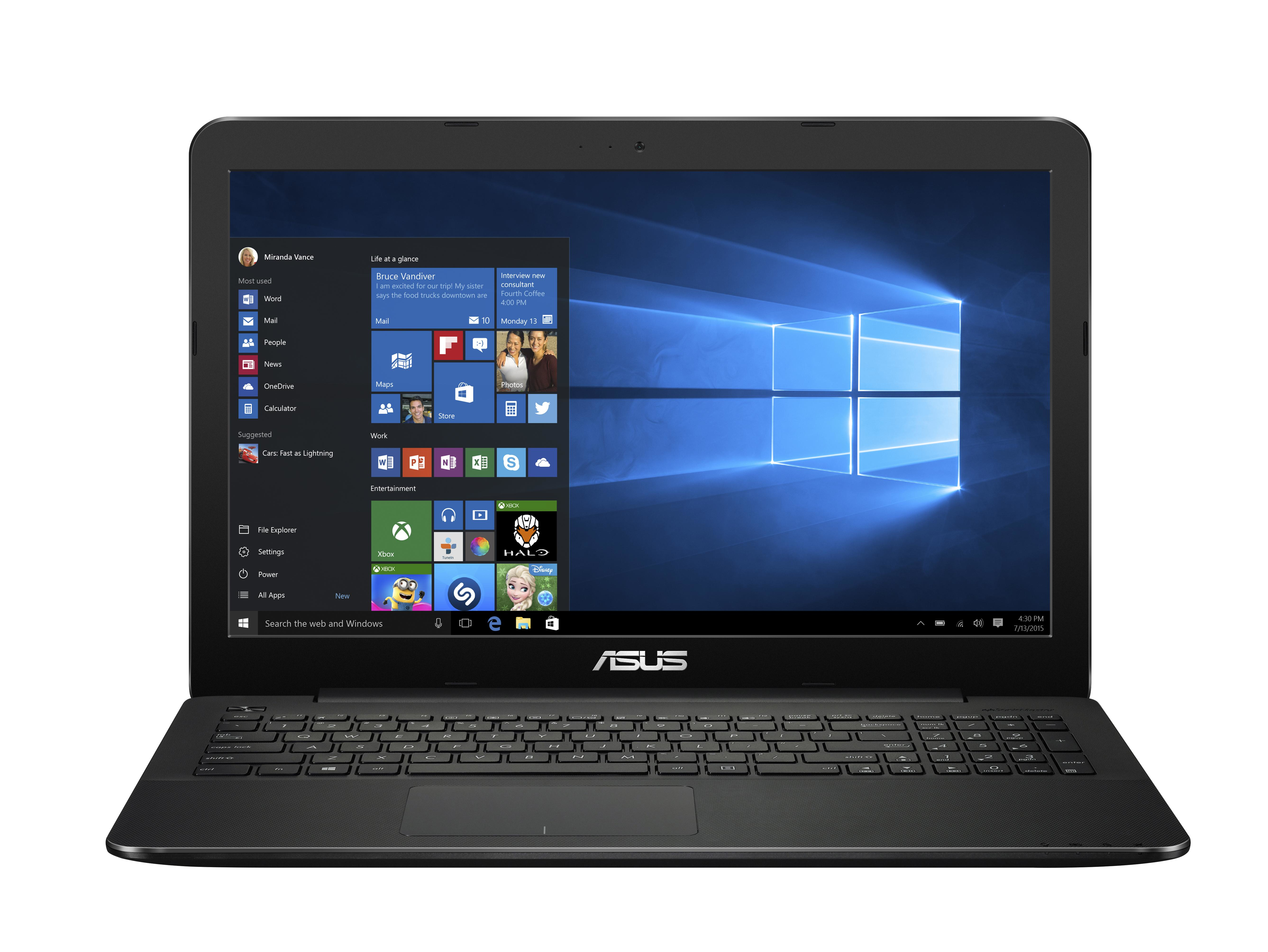 """ASUS R556YA-XX051T 2GHz A6-7310 15.6"""" 1366 x 768Pixel Nero Computer portatile"""