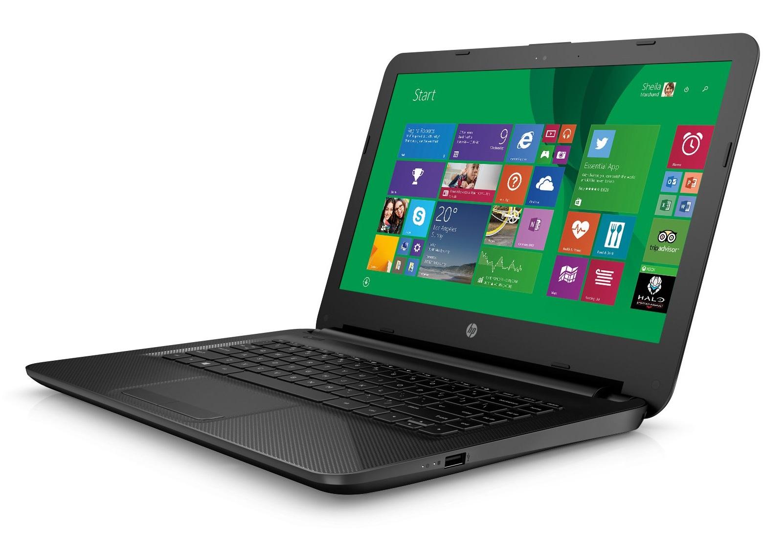 """HP 14-ac101la 1.6GHz N3050 14"""" 1366 x 768Pixel Nero Computer portatile"""