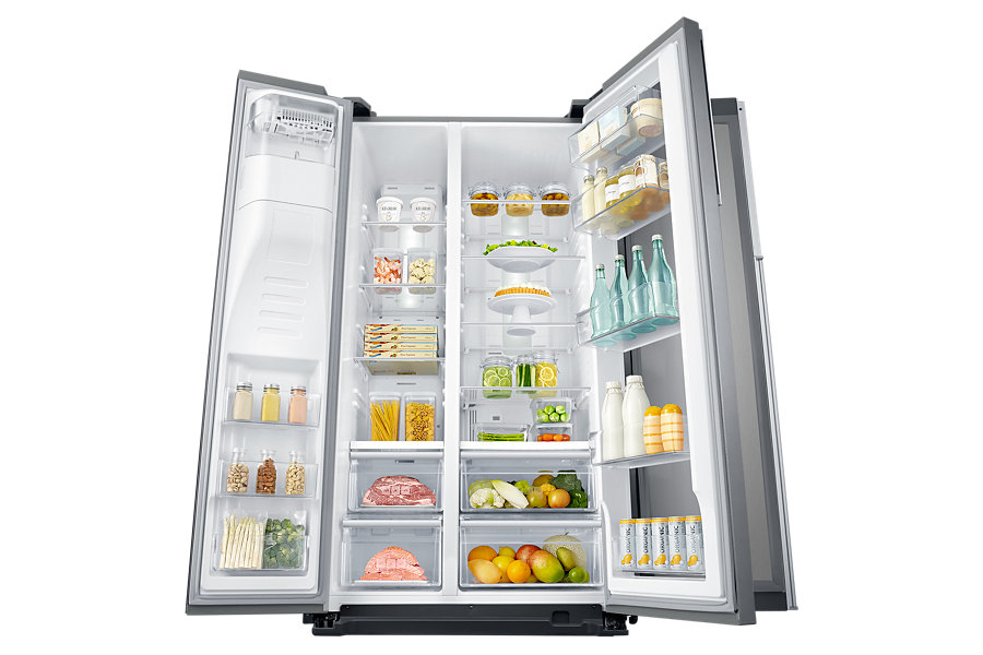 Samsung RH56J6917SL Libera installazione 555L A+ Acciaio inossidabile frigorifero side-by-side