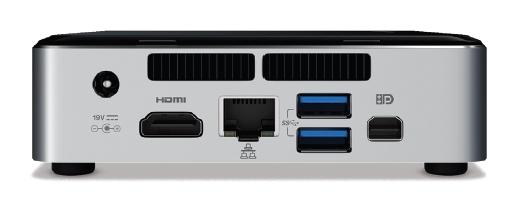 Intel NUC6I5SYK LGA 1356 (Socket B2) 1.8GHz i5-6260U UCFF Nero, Argento