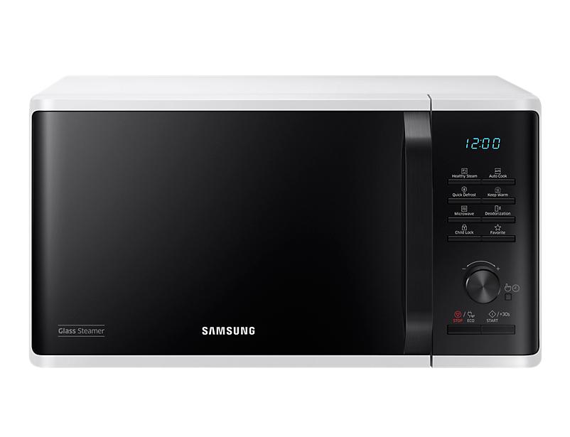 Samsung MW3500K Piano di lavoro Solo microonde 23L 800W Nero, Bianco