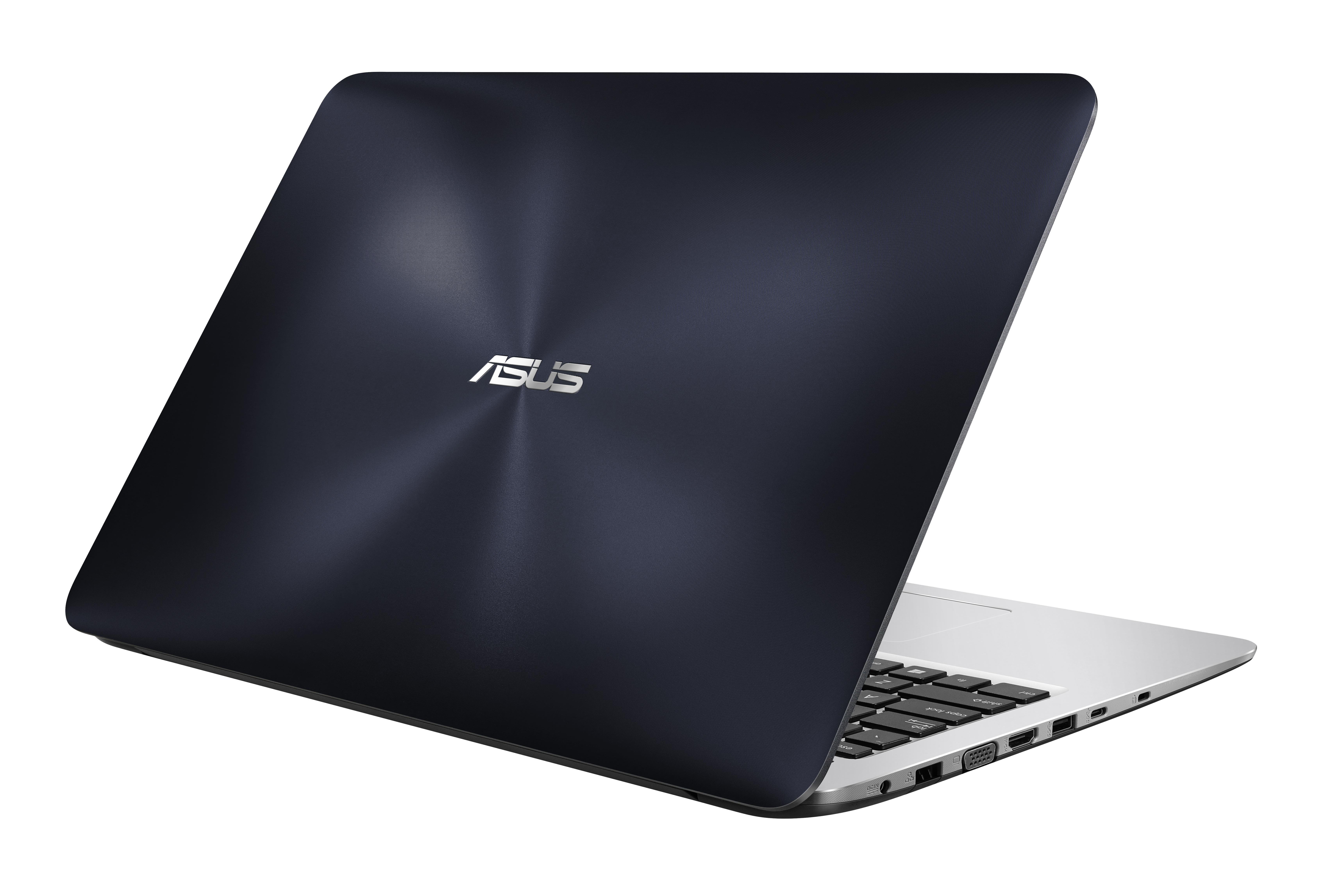 "ASUS A556UF-XX062D 2.3GHz i5-6200U 15.6"" 1366 x 768Pixel Blu, Acciaio inossidabile Computer portatile notebook/portatile"