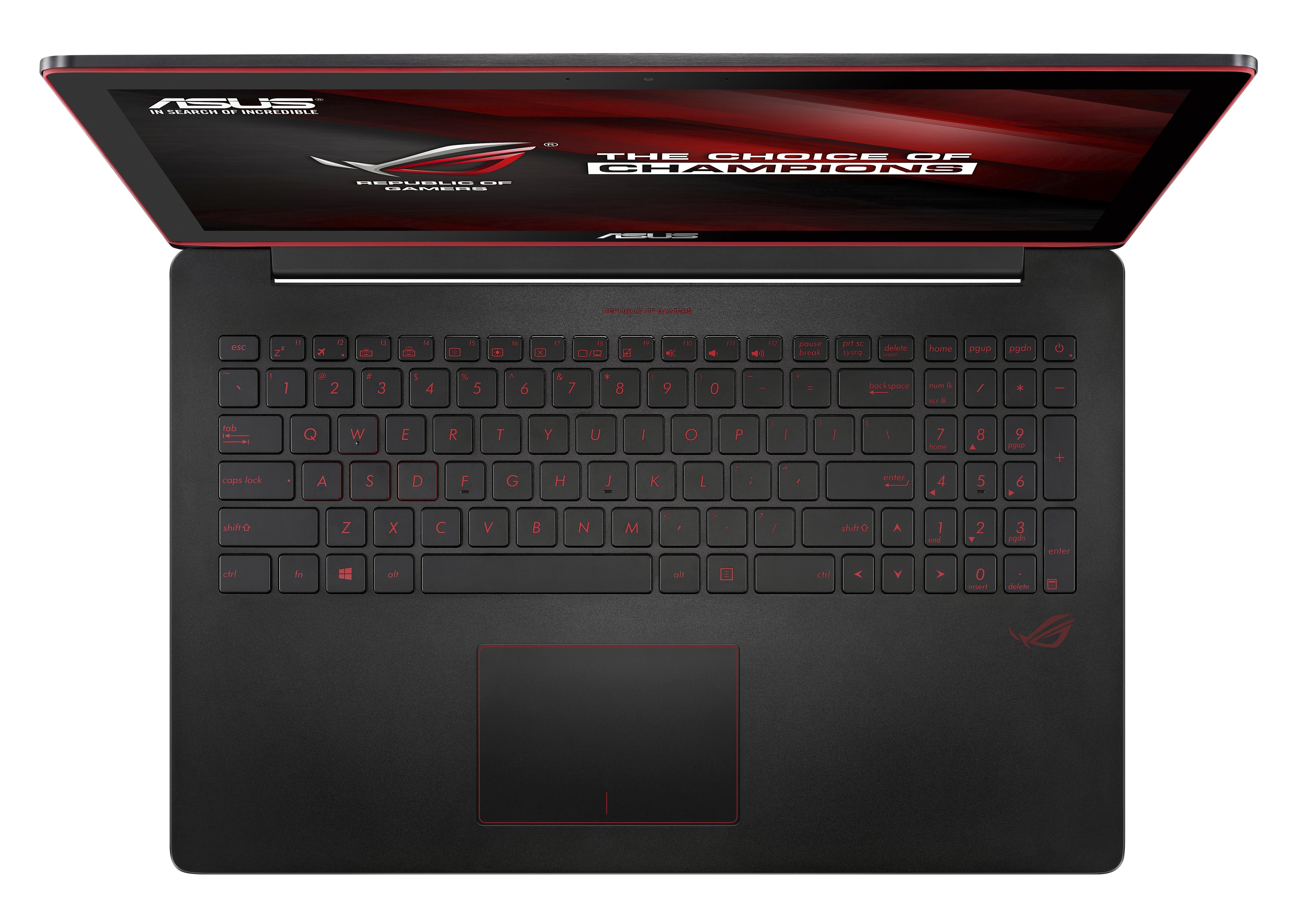 "ASUS ROG G501VW-FY116T 2.6GHz i7-6700HQ 15.6"" 1920 x 1080Pixel Nero Computer portatile"