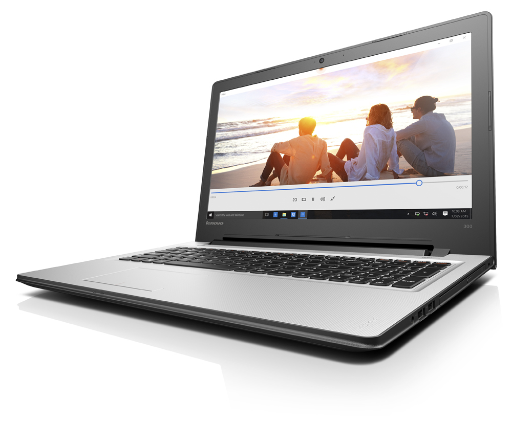"Lenovo IdeaPad 300 1.6GHz N3160 15.6"" 1366 x 768Pixel Nero, Argento Computer portatile"