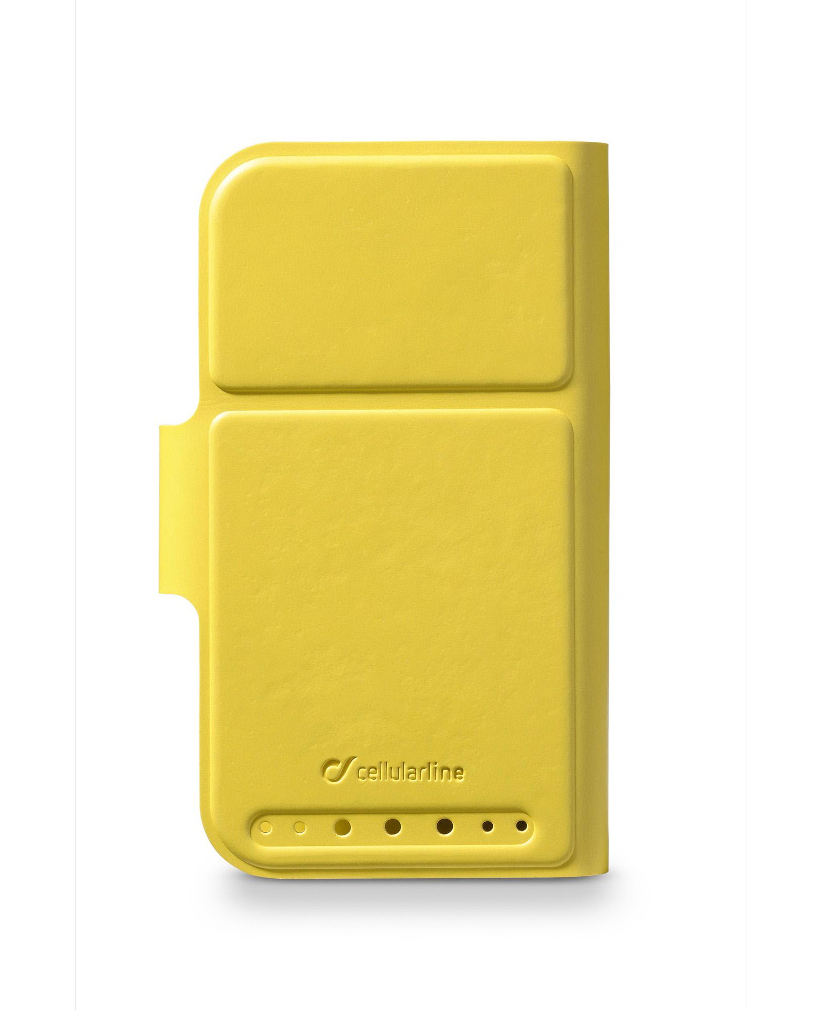 """Cellularline Book Twist - Per Smartphone fino a 4.8"""" Custodia a libro universale pratica e colorata Giallo"""