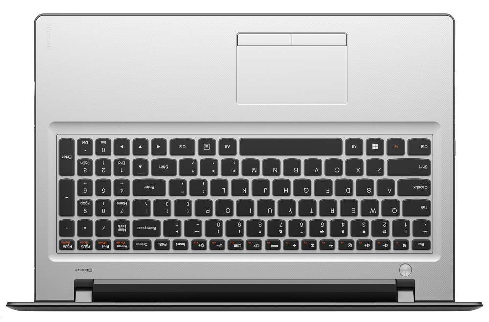 "Lenovo IdeaPad 300 15 2.3GHz i3-6100U 15.6"" 1366 x 768Pixel Nero, Argento Computer portatile"