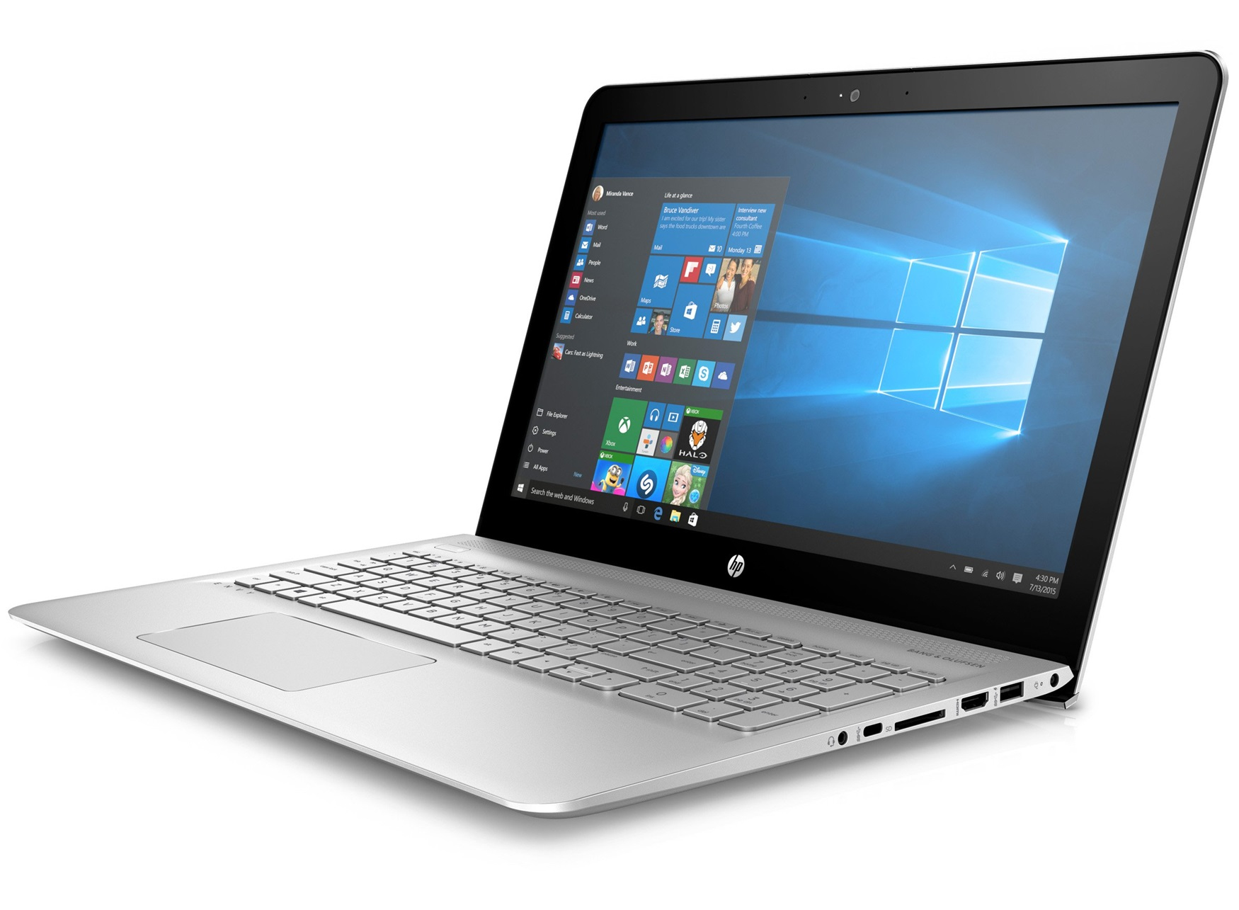 "HP ENVY 15-as010nb 2.5GHz i7-6500U 15.6"" 3840 x 2160Pixel Argento Computer portatile"