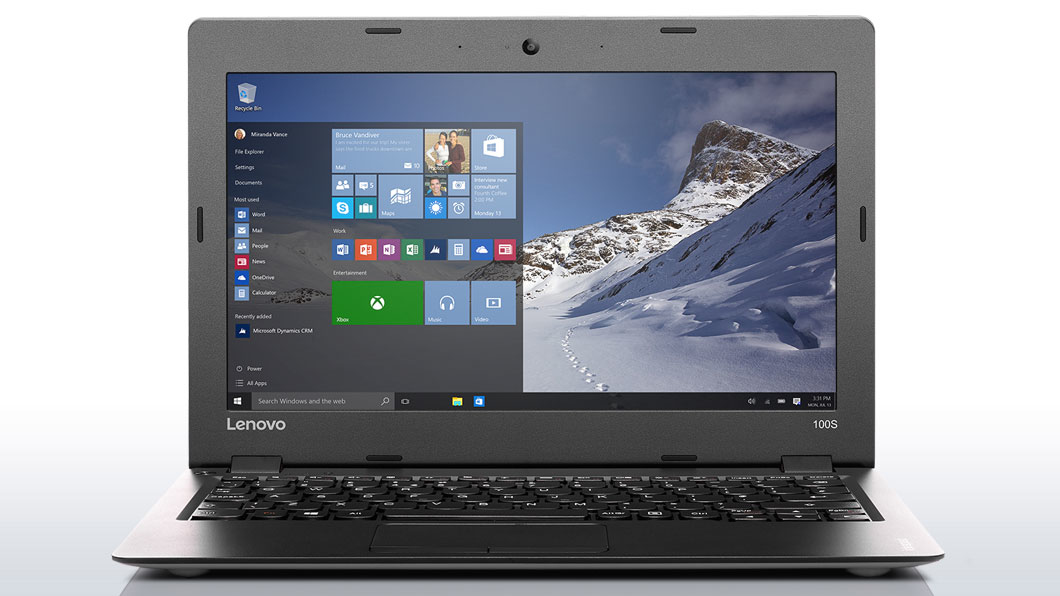 "Lenovo IdeaPad 100s-11 1.33GHz Z3735F 11.6"" 1366 x 768Pixel Argento Computer portatile"