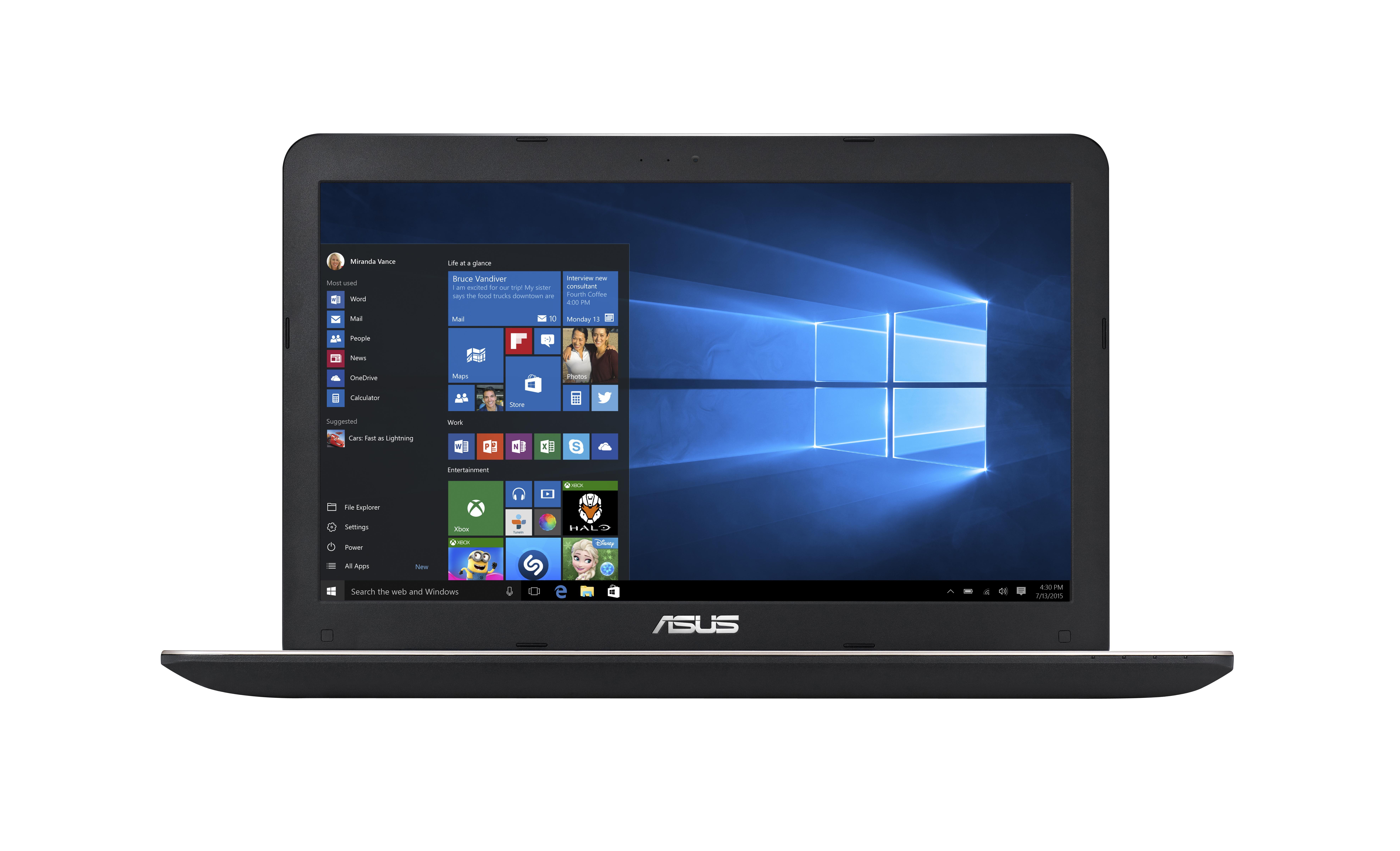 "ASUS A555LF-XX191T 1.7GHz i3-4005U 15.6"" 1366 x 768Pixel Nero, Marrone Computer portatile"