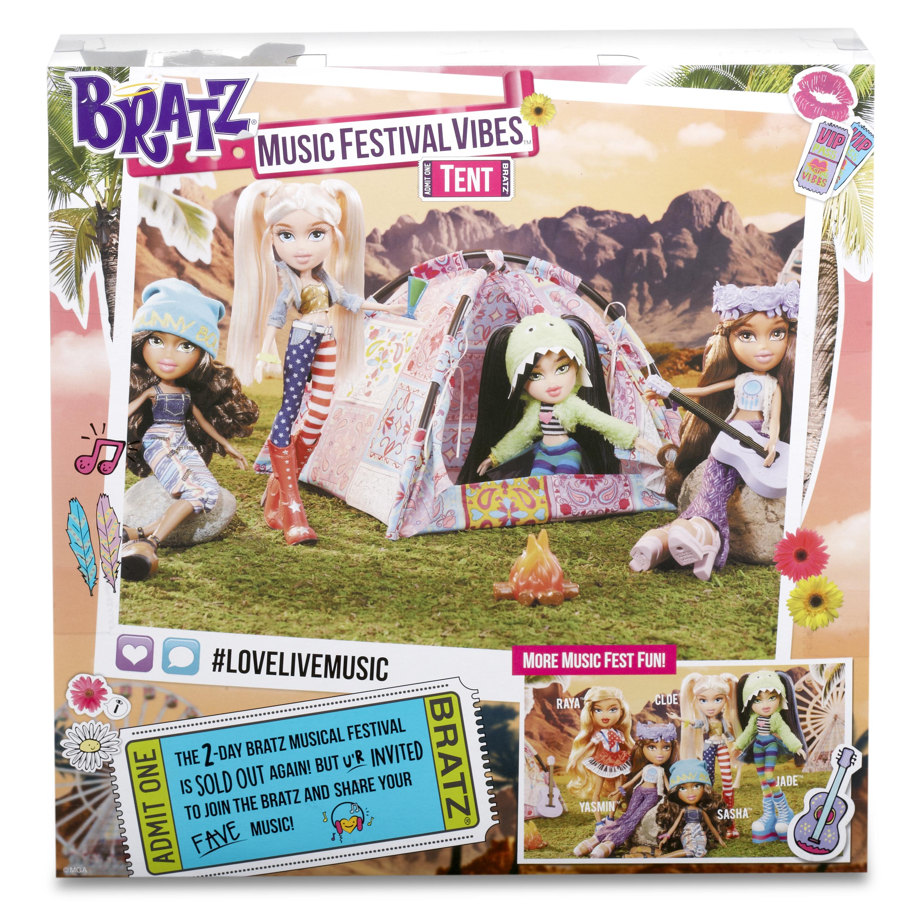 Bratz Music Festival Tent Tessuto, Plastica casa per le bambole