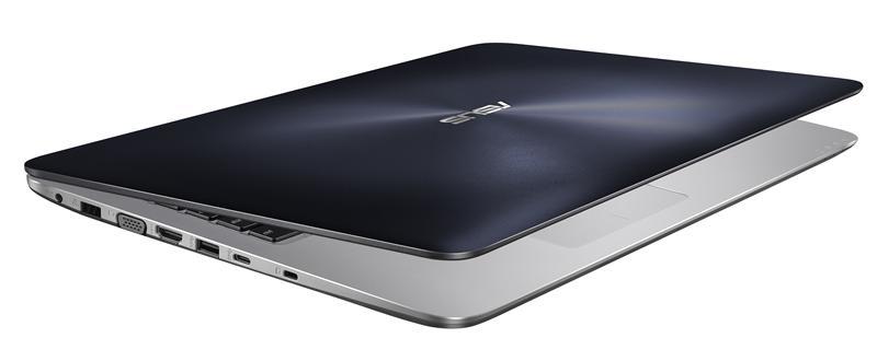 """ASUS R558UQ-DM905T 2.50GHz i5-7200U 15.6"""" 1920 x 1080Pixel Blu, Acciaio inossidabile Computer portatile"""