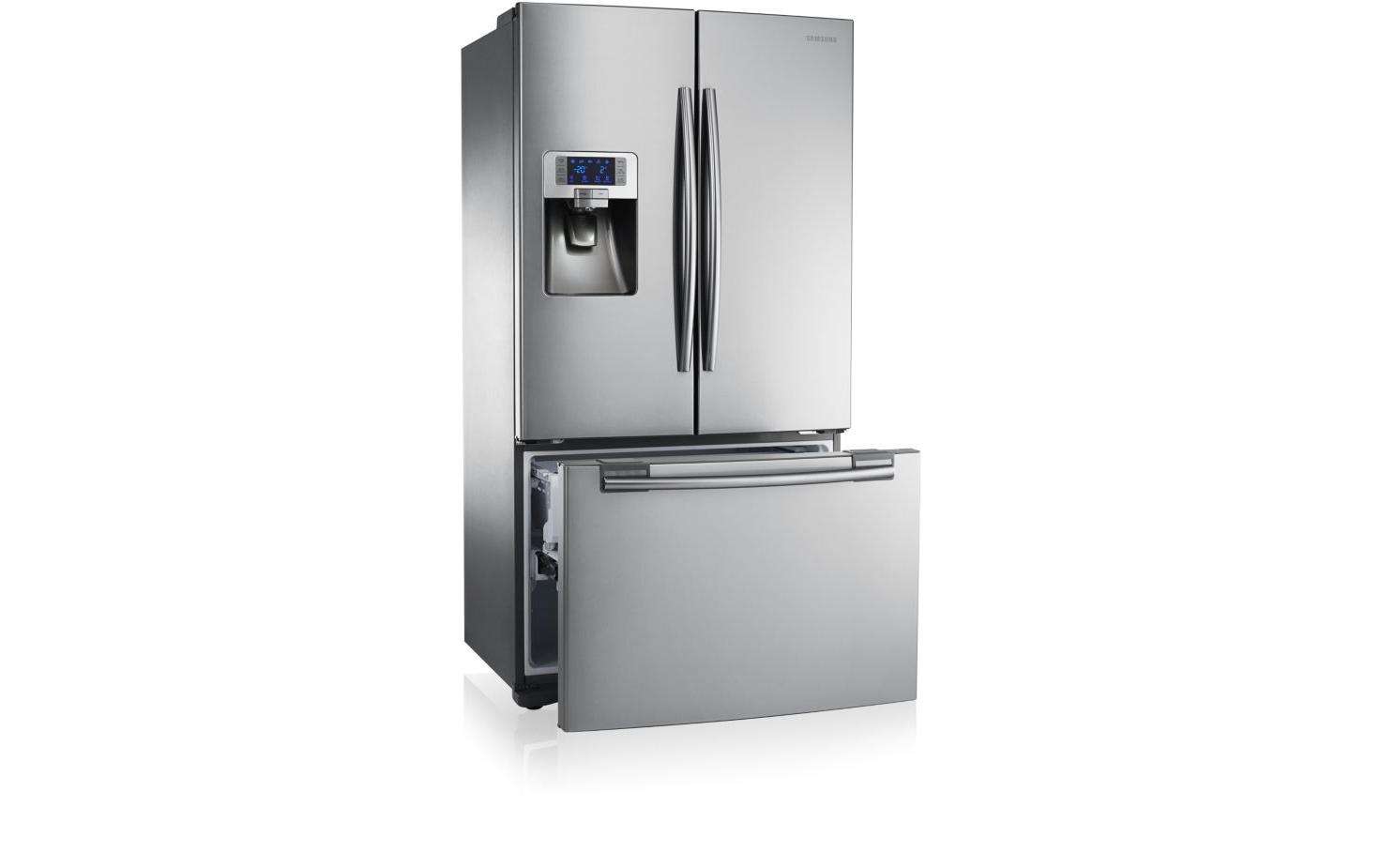 Samsung RFG23RESL Libera installazione 520L A+ Acciaio inossidabile frigorifero side-by-side