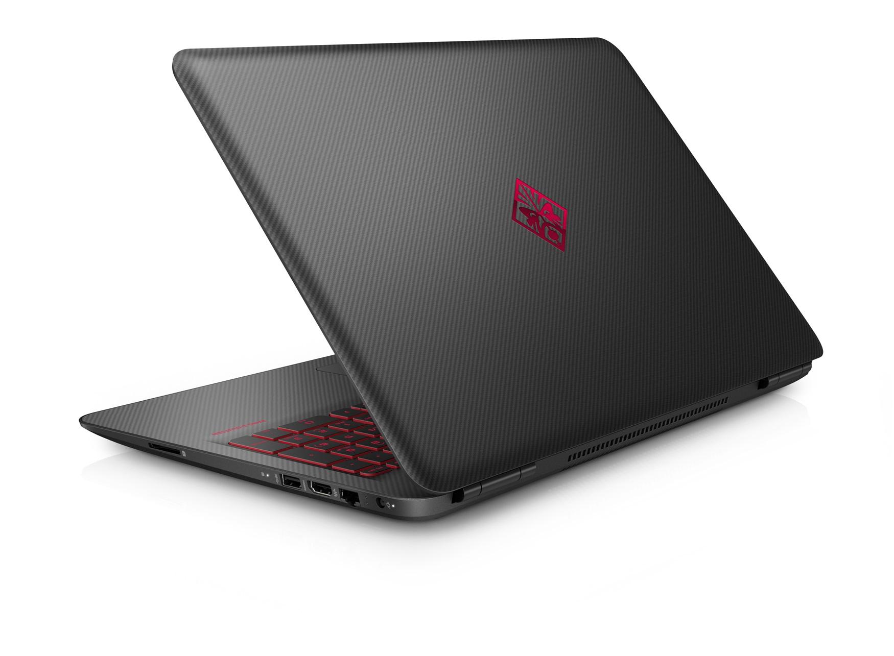 "HP OMEN 15-ax251nb 2.8GHz i7-7700HQ 15.6"" 3840 x 2160Pixel Nero, Carbonio, Rosso Computer portatile"