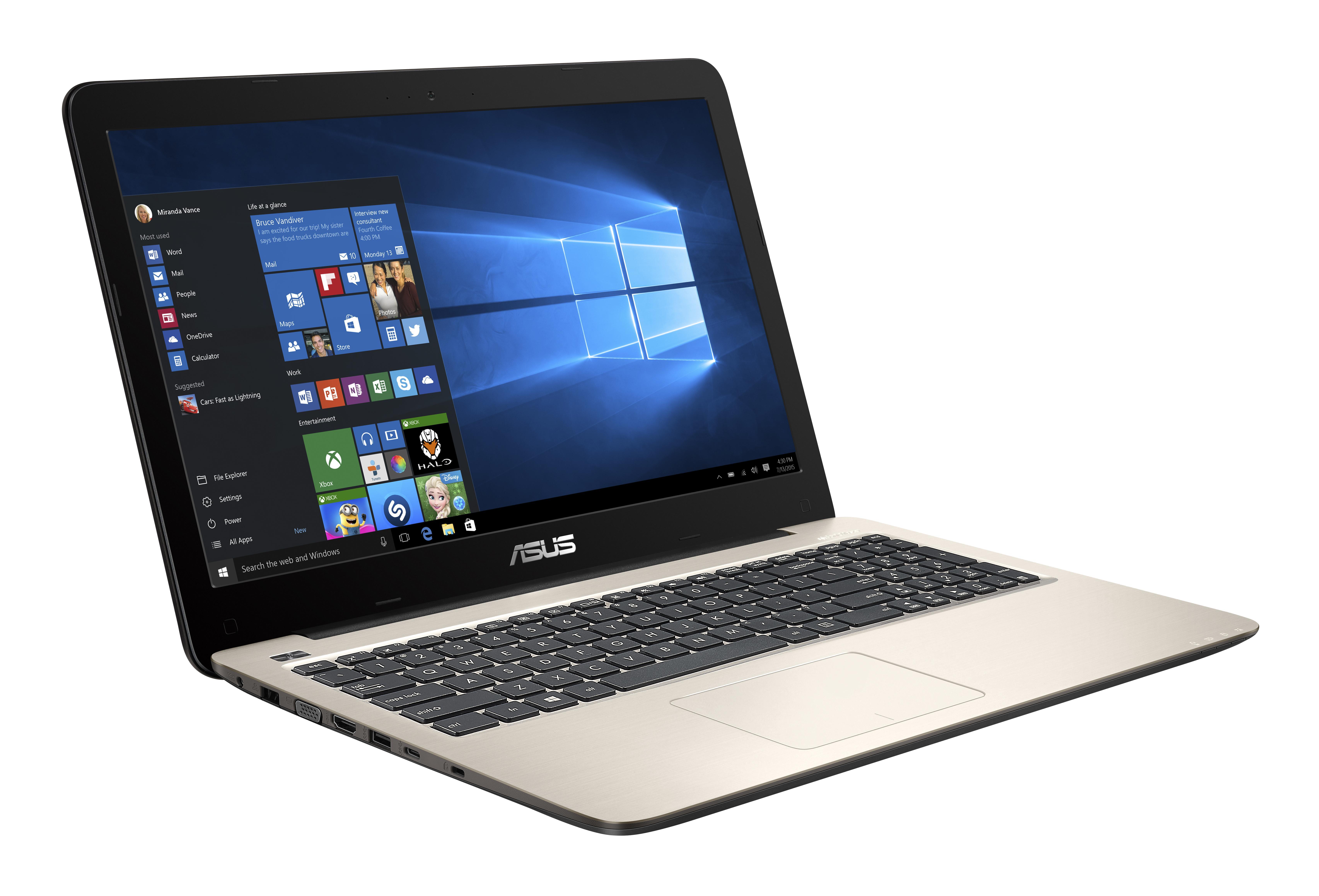 "ASUS R558UR-DM149T 2.3GHz i5-6200U 15.6"" 1920 x 1080Pixel Oro Computer portatile notebook/portatile"