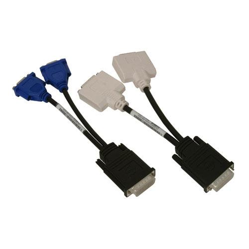 DELL 310-4469 VGA (D-Sub) 2 x DVI Nero, Blu, Bianco cavo e adattatore video