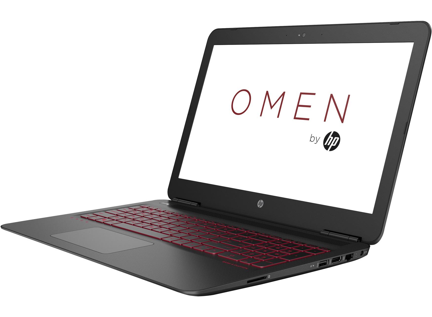 """HP OMEN 15-ax232tx 2.8GHz i7-7700HQ 15.6"""" 1920 x 1080Pixel Nero, Carbonio, Rosso Computer portatile"""