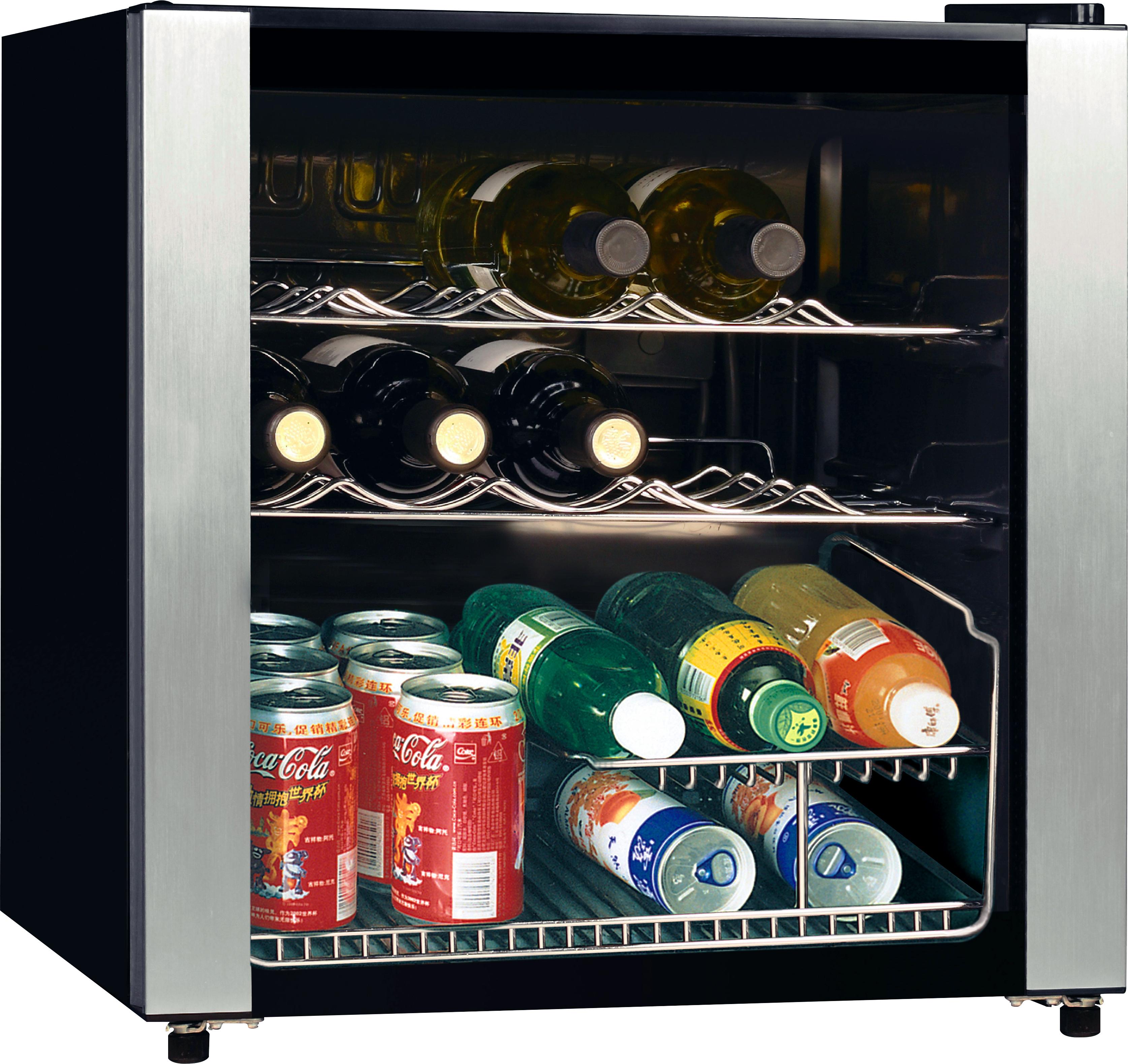 WLA KW4720 Libera installazione Cantinetta vino con compressore Nero, Acciaio inossidabile 16bottiglia/bottiglie A cantina vino