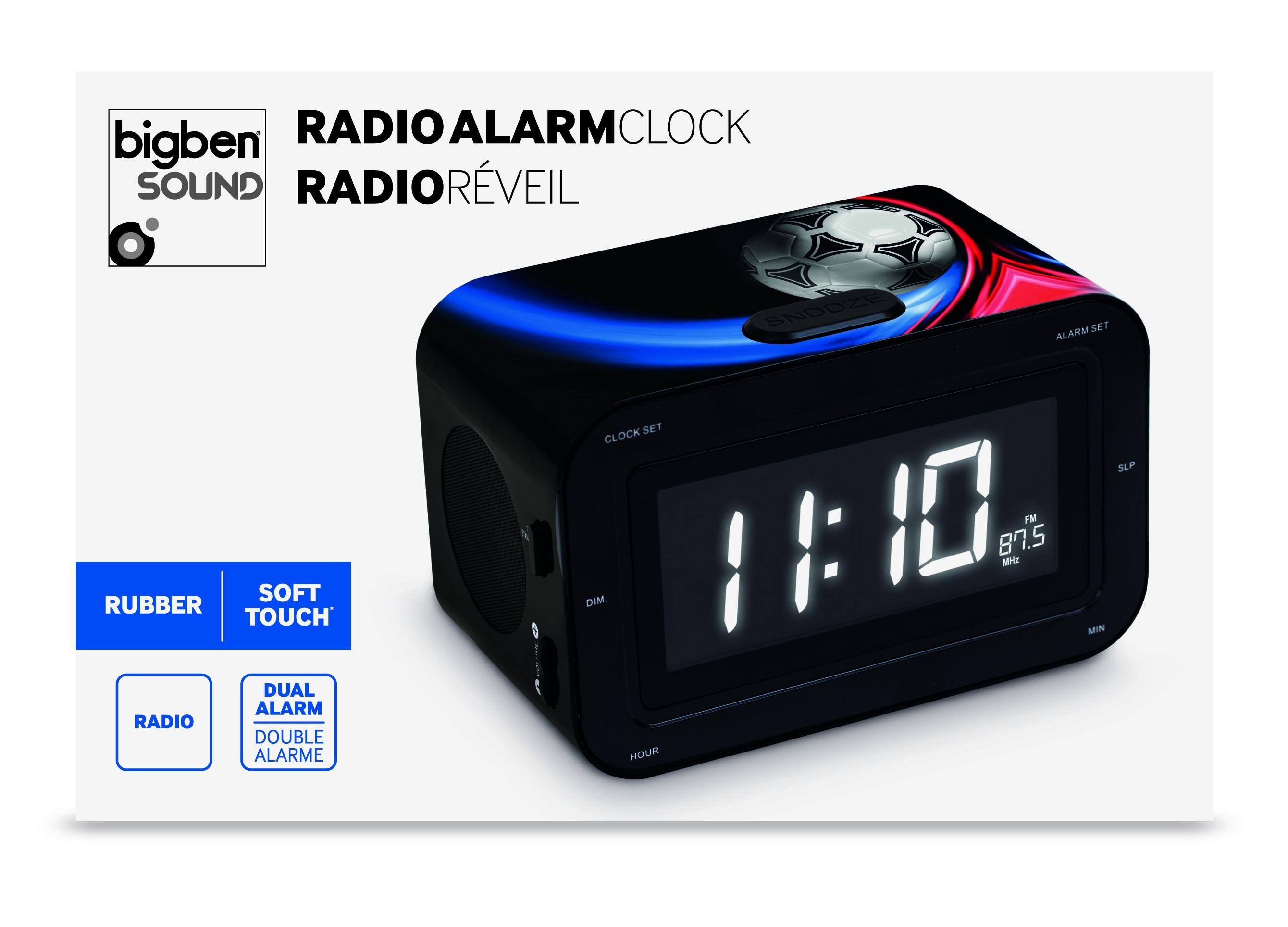 Bigben Interactive RR30FOOT3 Orologio Analogico Nero, Blu, Rosso radio