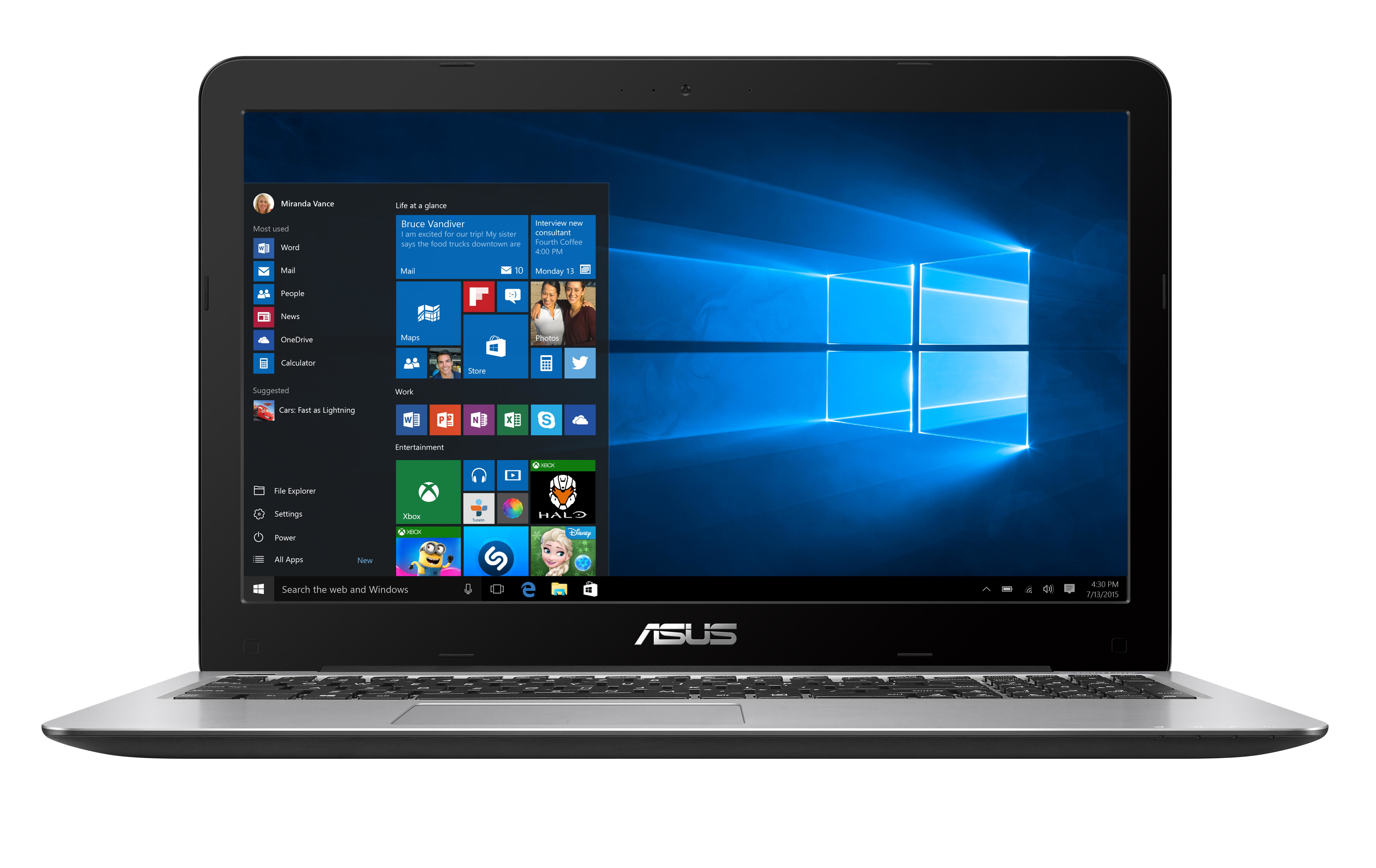 "ASUS R558UR-DM458T 2.50GHz i5-7200U 15.6"" 1920 x 1080Pixel Blu, Blu marino Computer portatile"