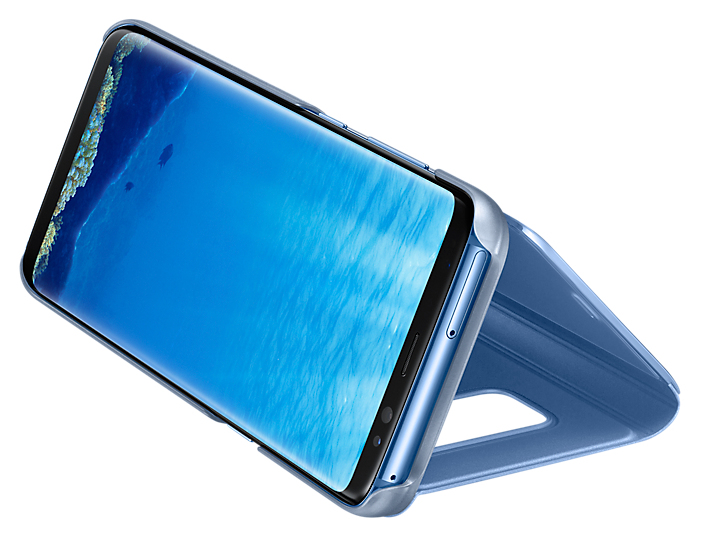"Samsung Clear View 5.8"" Custodia a libro Blu"