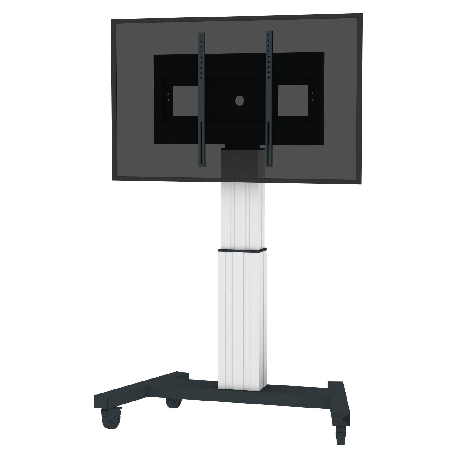 "Conen Mounts SCETAV 100"" Portable flat panel floor stand Alluminio, Nero base da pavimento per tv a schermo piatto"