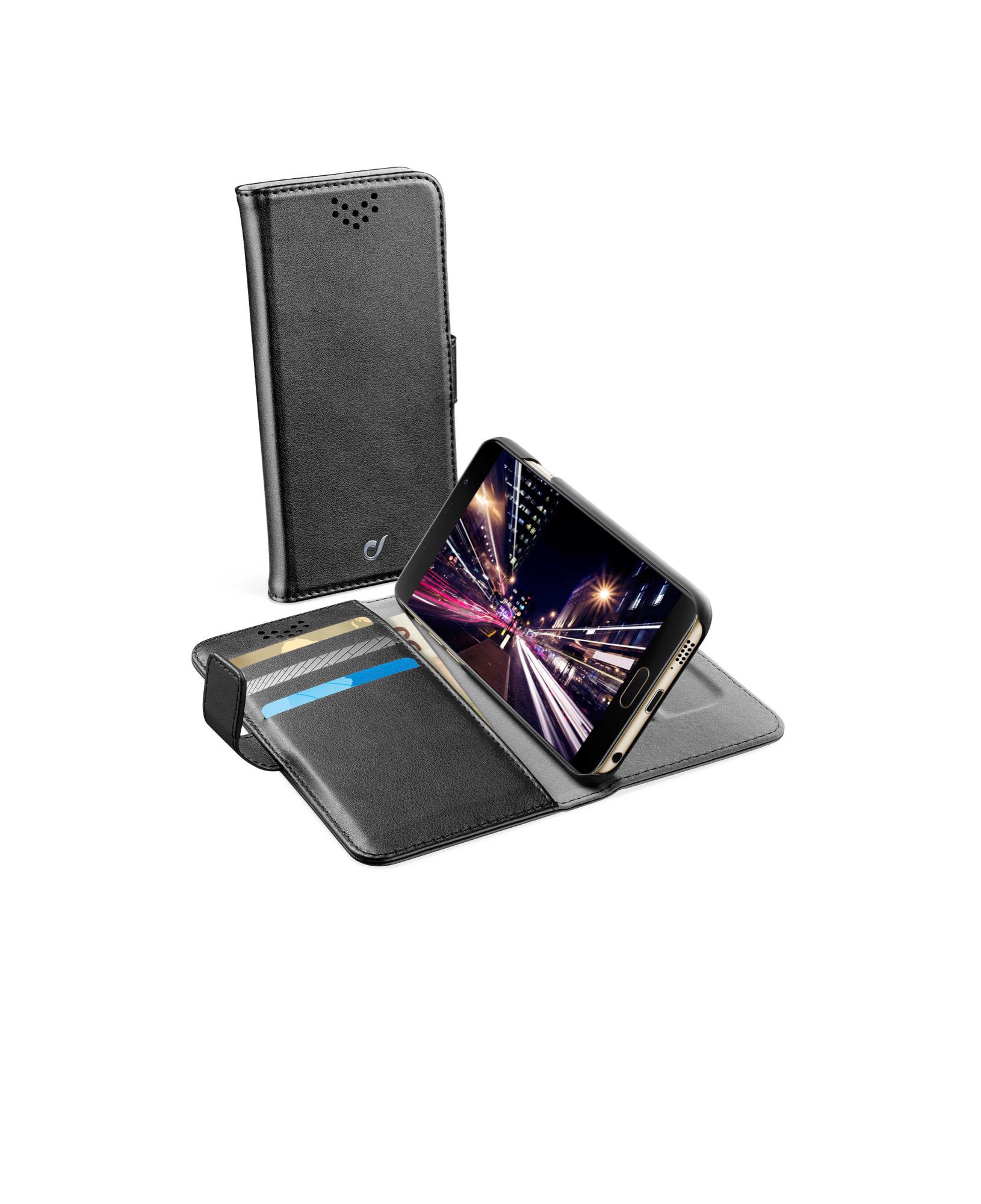 Cellularline Book Agenda - Galaxy A7 2016 Custodia a libro pratica e funzionale Nero