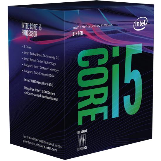 INTEL - Core I5-8400 2.8GHz 9MB LGA 1151 ( Coffee Lake)  (Requer board c/ chipset sÈrie 300) - BX80684I58400