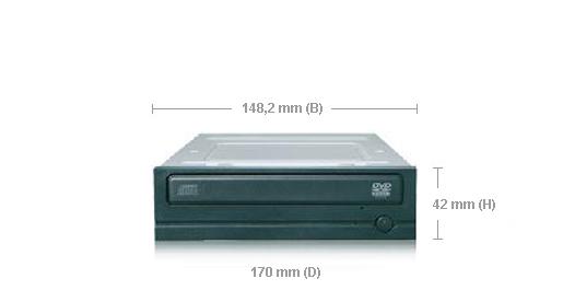Samsung SH-D163C Interno Nero lettore di disco ottico
