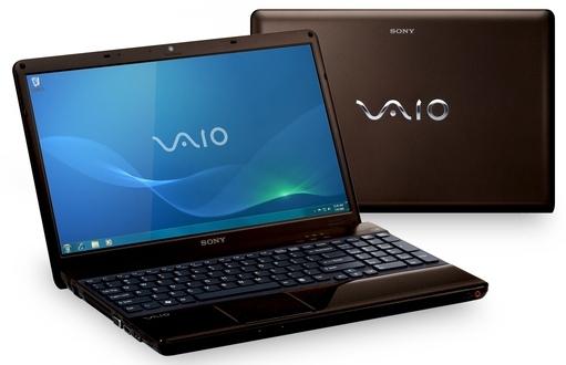 "Sony VAIO VPCEB1M1E/T 2.13GHz i3-330M 15.5"" 1366 x 768Pixel Marrone notebook/portatile"