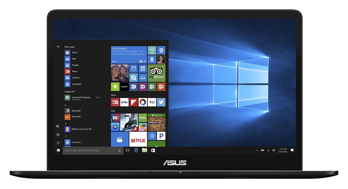"ASUS ZenBook Pro UX550VD-BO098R 2.8GHz i7-7700HQ 15.6"" 1920 x 1080Pixel Nero Computer portatile"