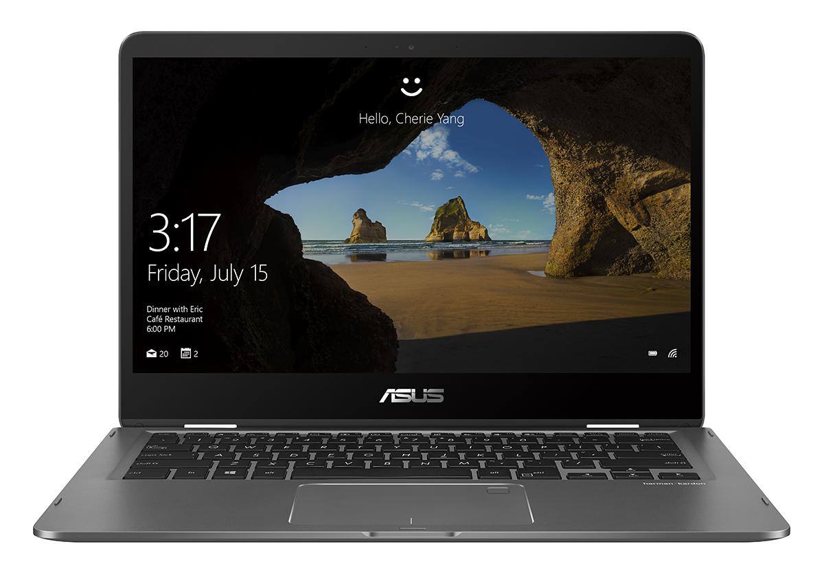 "ASUS ZenBook Flip UX461UA-E1017R 1.8GHz i7-8550U 14"" 1920 x 1080Pixel Touch screen Grigio Ibrido (2 in 1)"
