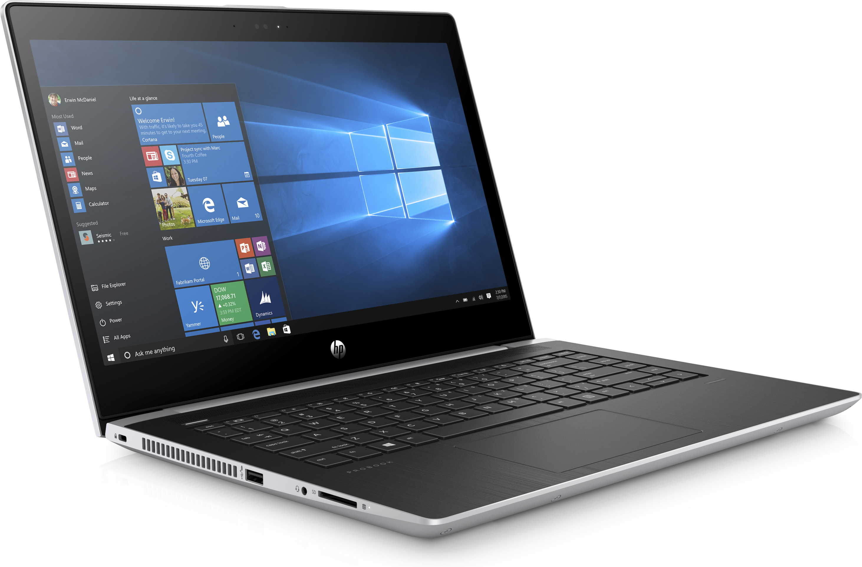 "HP ProBook 440 G5 2.40GHz i3-7100U 14"" 1366 x 768Pixel Argento Computer portatile"