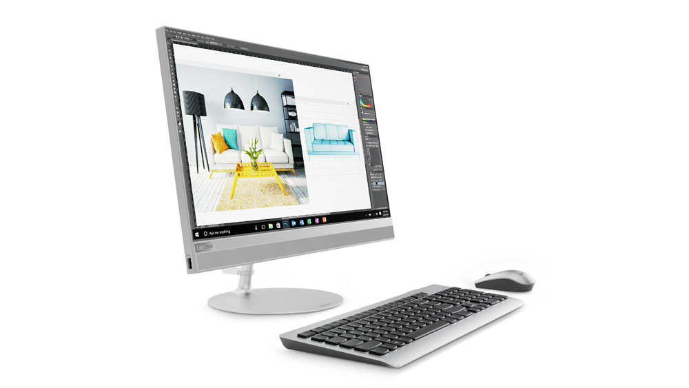 """Lenovo IdeaCentre 520 2.3GHz 4415U 23.8"""" 1920 x 1080Pixel Argento PC All-in-one"""