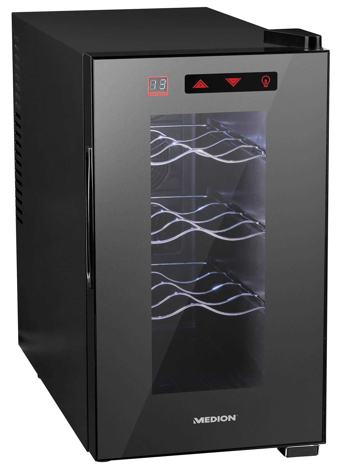 MEDION MD 16703 Libera installazione Nero 8bottiglia/bottiglie A+