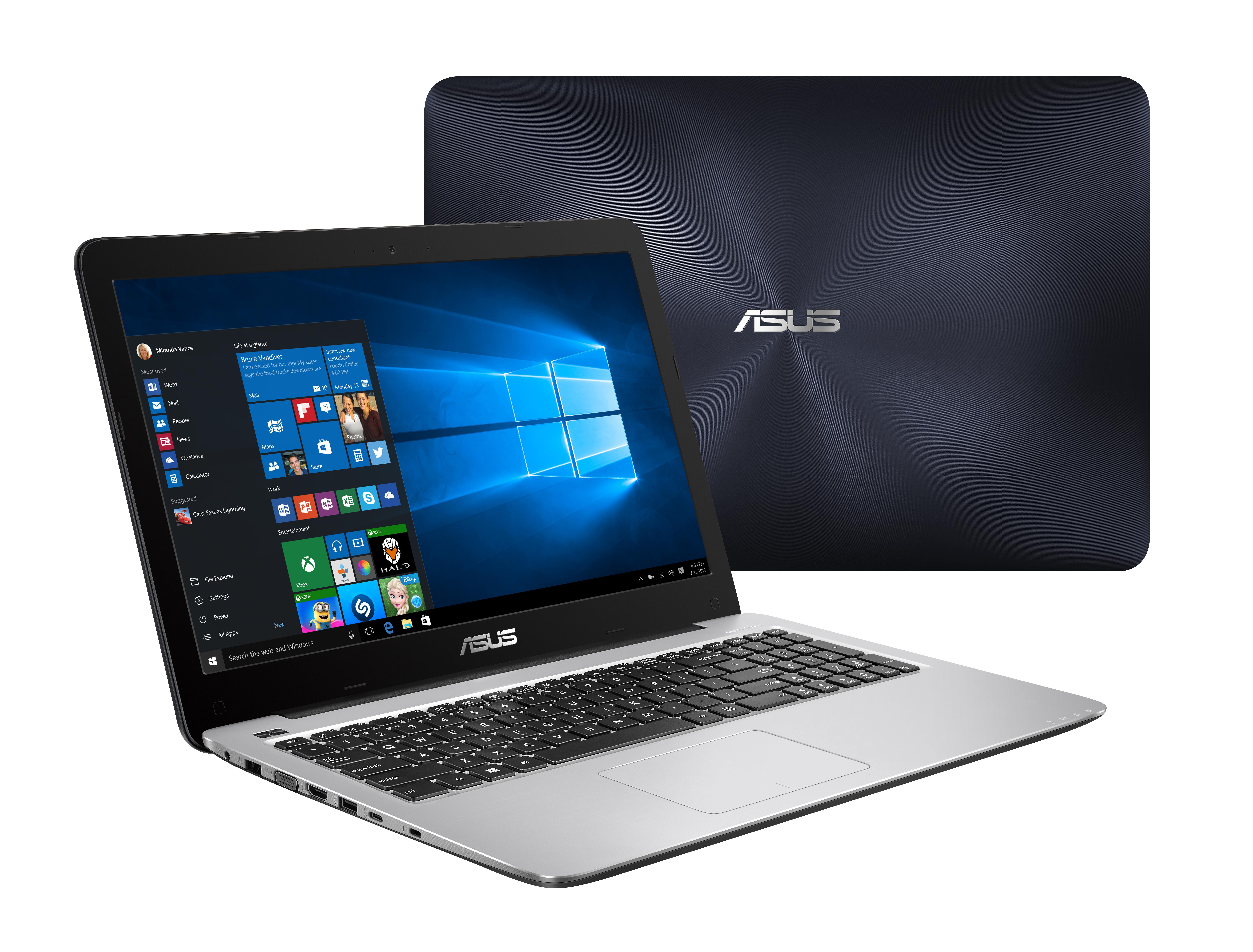 "ASUS R558UA-DM1167T 2.5GHz i5-7200U 15.6"" 1920 x 1080Pixel Blu, Acciaio inossidabile Computer portatile"