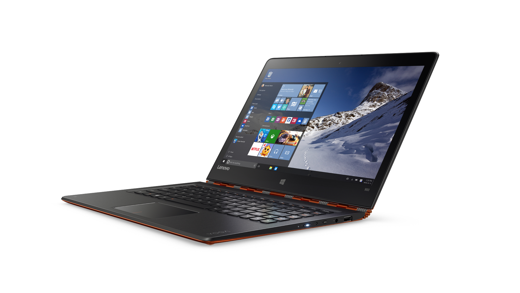 "Lenovo Yoga 900 1.8GHz i5-6260U 13.3"" 3200 x 1800Pixel Touch screen Nero, Arancione Ibrido (2 in 1)"