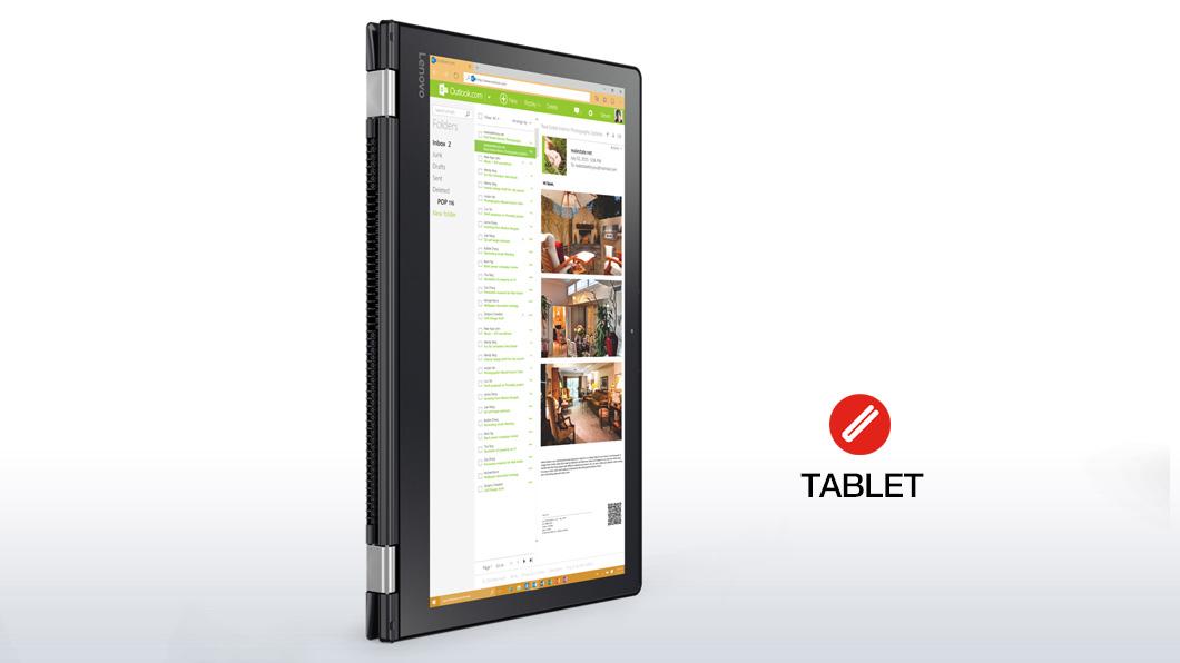 "Lenovo Yoga 510 2.5GHz i5-7200U 15.6"" 1920 x 1080Pixel Touch screen Nero Ibrido (2 in 1)"