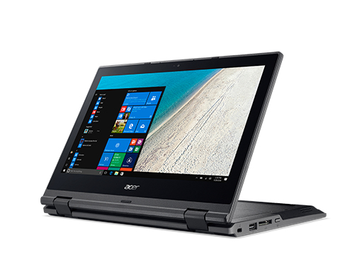 """Acer TravelMate Spin B1 B118-R-C5LD + Office Home & Business 1.1GHz N3450 11.6"""" 1366 x 768Pixel Touch screen Nero Ibrido (2 in 1)"""