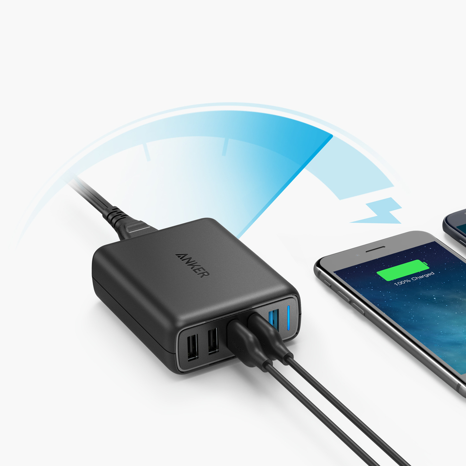 Anker A2055311 Interno Nero caricabatterie per cellulari e PDA