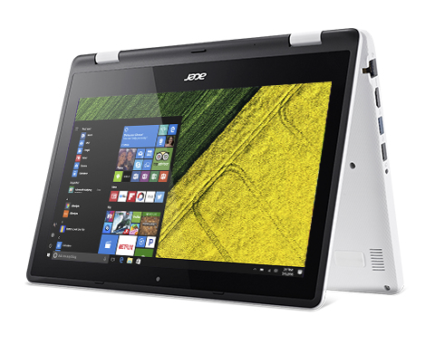 "Acer Aspire R 11 R3-131T-C096 1.6GHz N3060 11.6"" 1366 x 768Pixel Touch screen Nero, Bianco Ibrido (2 in 1)"