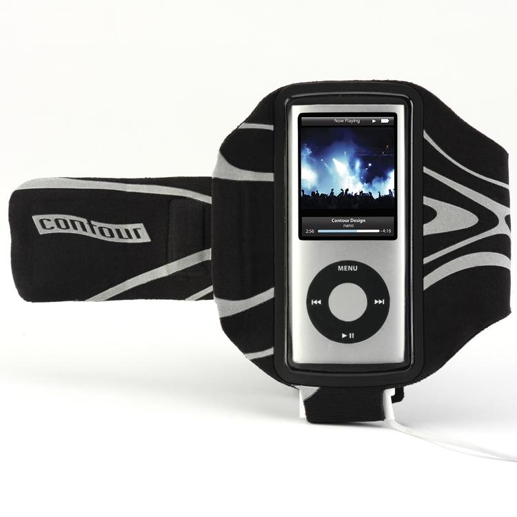 Contour Design Bolt Armband iPod nano Nero, Bianco