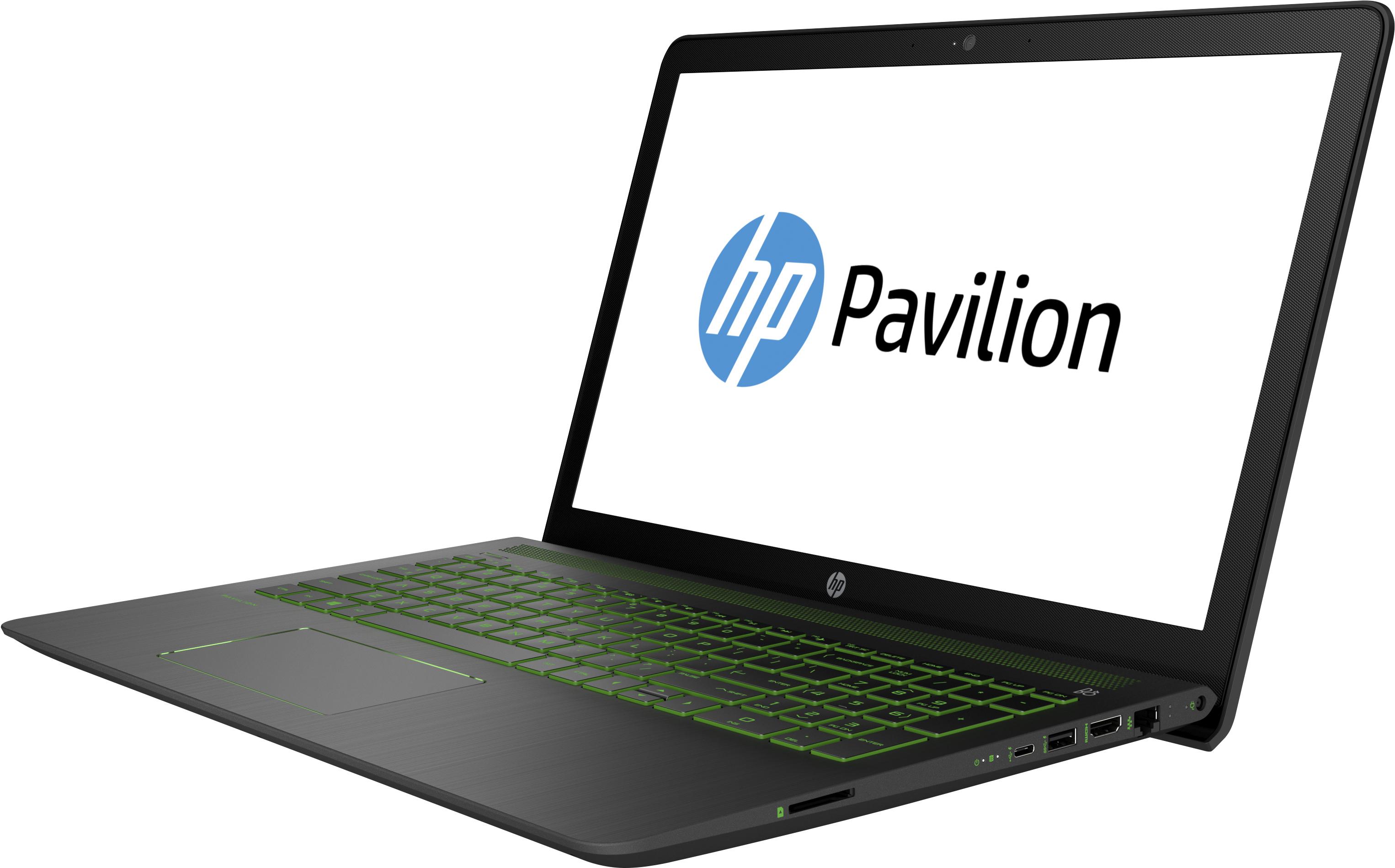 "HP Pavilion Power 15-cb085ng 2.8GHz i7-7700HQ 15.6"" 1920 x 1080Pixel Nero, Verde Computer portatile"