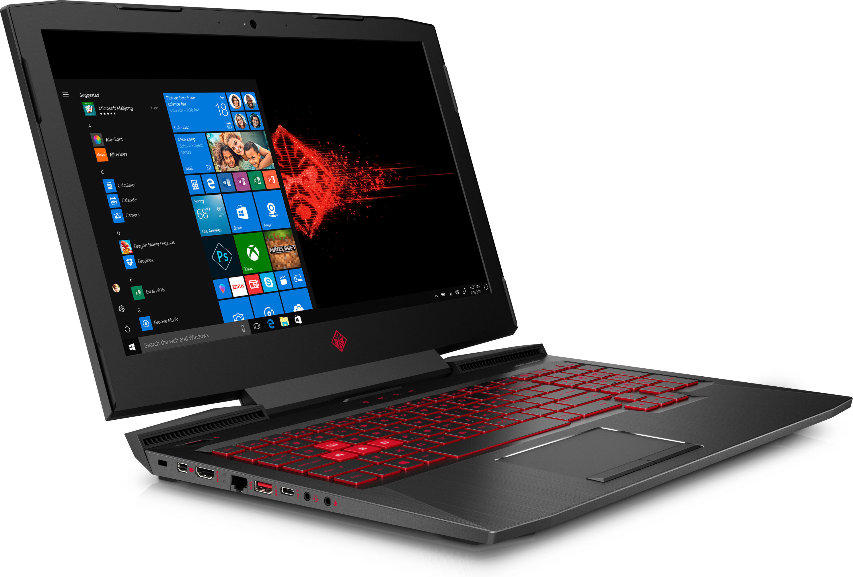 "HP OMEN 15-ce027nf 2.5GHz i5-7300HQ 15.6"" 1920 x 1080Pixel Nero, Rosso Computer portatile"